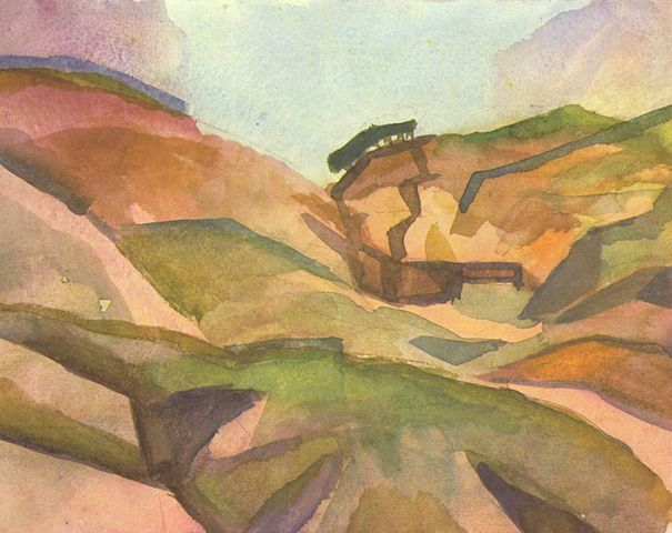 By August Macke - The Yorck Project: 10.000 Meisterwerke der Malerei. DVD-ROM, 2002. ISBN 3936122202. Distributed by DIRECTMEDIA Publishing GmbH., Public Domain, https://commons.wikimedia.org/w/index.php?curid=154247
