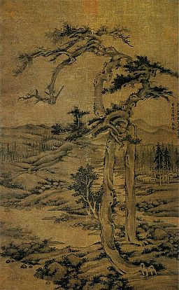 Wu_Zhen._Twin_Pines._180x111,4_cm._1328._National_Palace_Museum,_Taipei