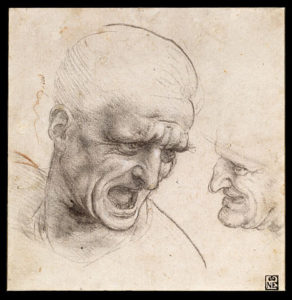 467px-Leonardo_da_Vinci_-_Study_of_Two_Warriors'_Heads_for_the_Battle_of_Anghiari_-_Google_Art_Project